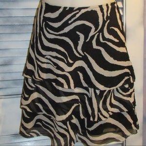 White House Black Market size 4  100% silk skirt
